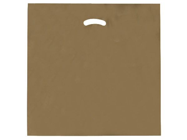 """Gold Super Gloss Bags 20x20x5"""" Recycled Plastic Bags 1.50 mil"""