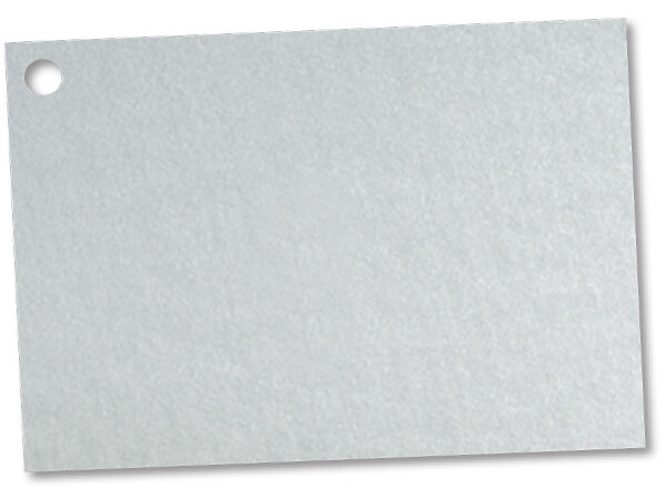 Solid Metallic Silver Theme Gift Cards  3-3/4x2-3/4""