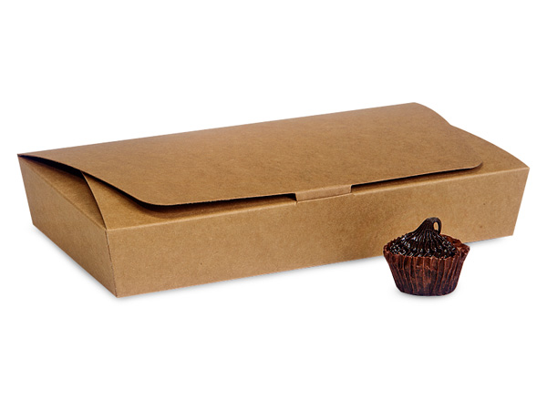 Kraft 1/2 lb. Single Layer Tapered Candy Box, 7.5x4x1""