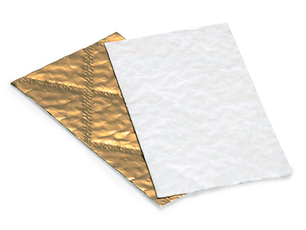 "Gold & White Candy Pads, 4-7/8x2-5/8"", 200 Pack"