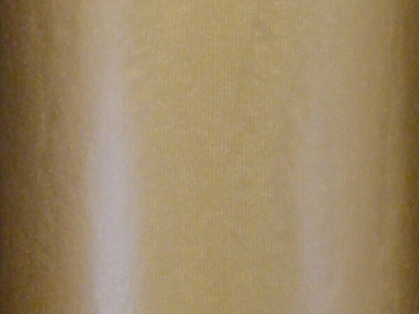 """Gold Kraft with Textured Lines Gift Wrap, 30"""" x 417', Half Ream Roll"""
