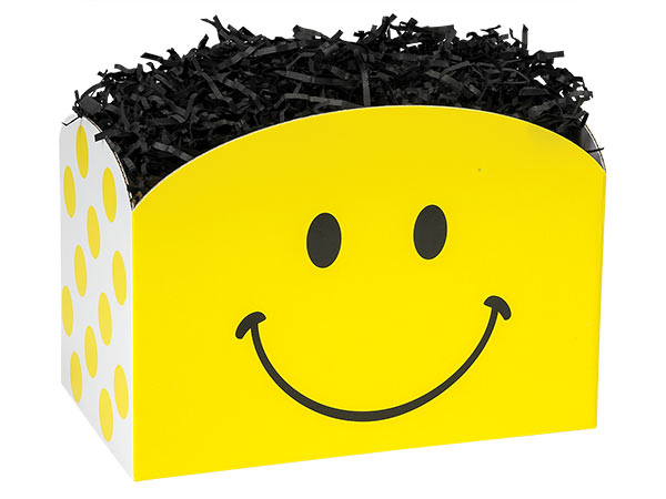 Large Smiley Basket Boxes 10-1/4x6x7-1/2""