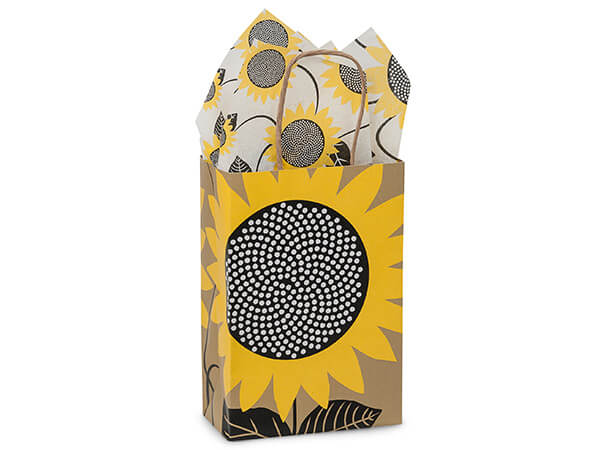 Rose Sunflower Fields Paper Bags 250 5-1/2x3-1/4x8-3/8""