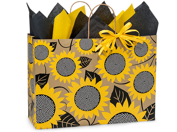 Sunflower Kraft Shopping Bags