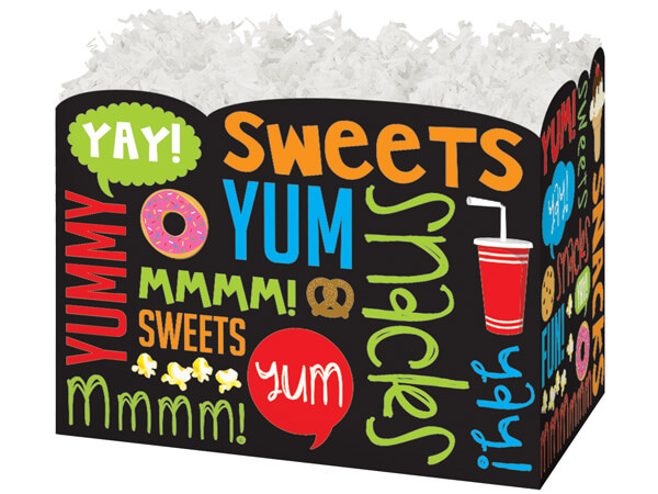 Large Snack Attack Basket Boxes 10-1/4 x 6 x 7-1/2""