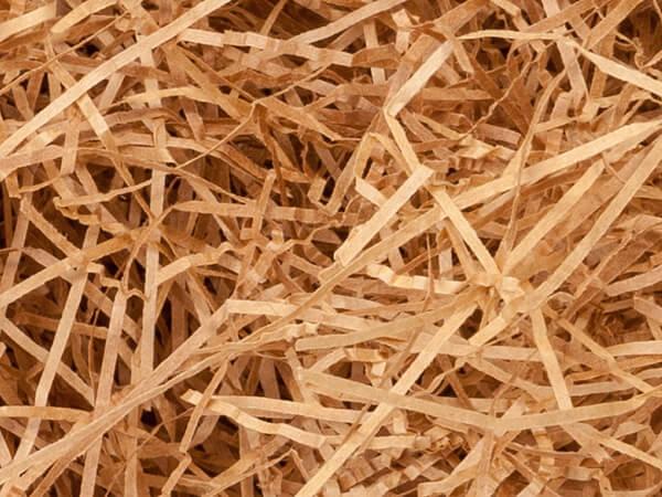 Natural Tan Kraft Fine Cut Shredded Paper, 10 lb Box