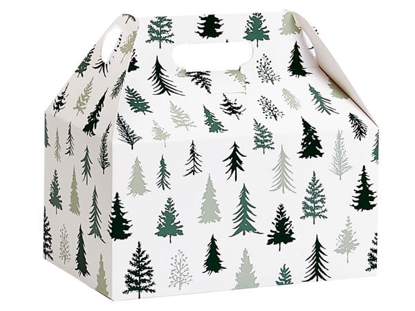 Snowy Pine Gable Boxes