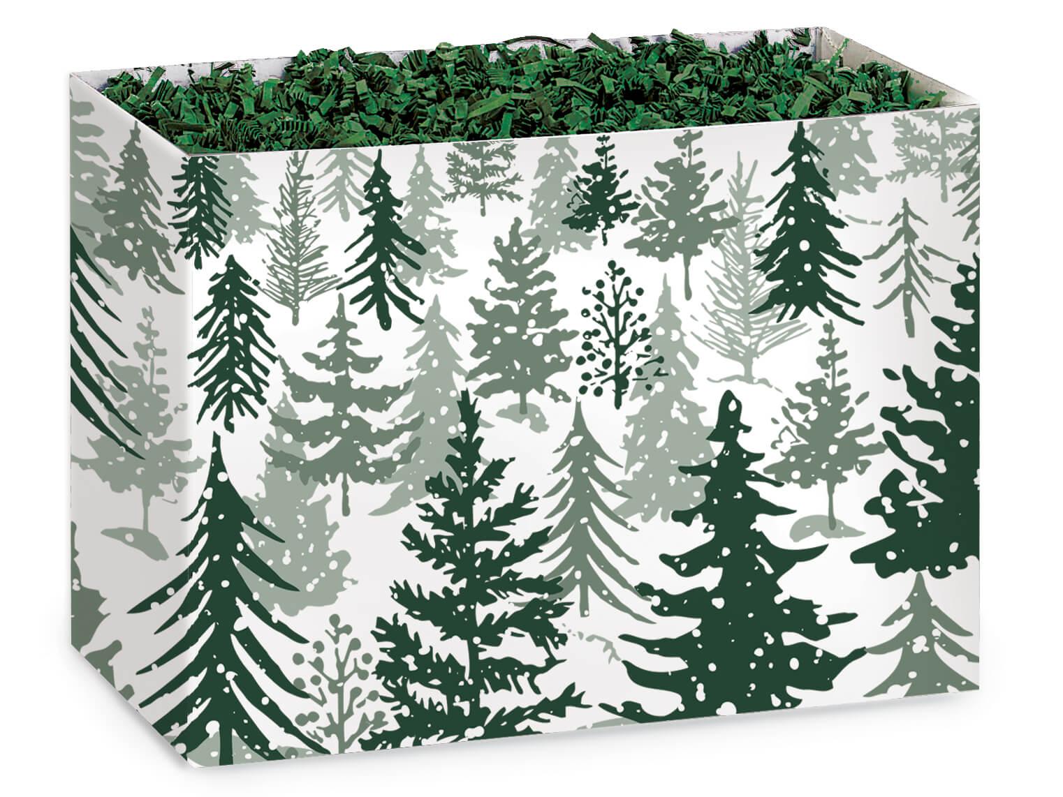 Snowy Pine Basket Boxes