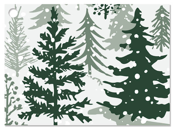 """Snowy Pines Theme Gift Card, 3.75x2.75"""", 6 Pack"""