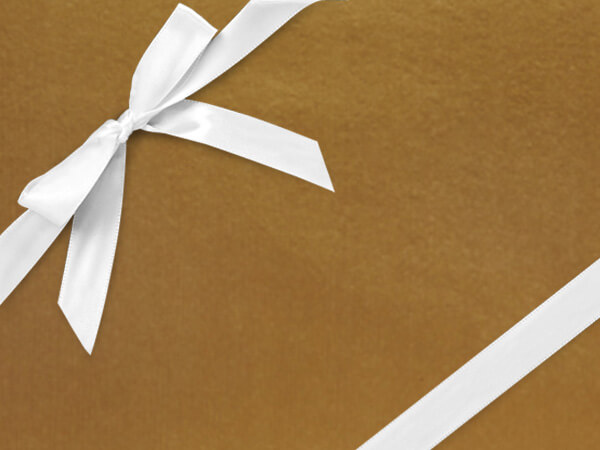 "Red Gold  30"" x 417' Half Ream Roll Gift Wrap"