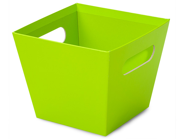 Small Lime Green Square Gourmet Market Tray 5x5x4-1/2""