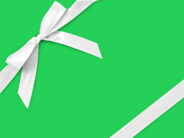 "Fluorescent Green Velvet Touch Gift Wrap, 30"" x 417', Half Ream Roll"