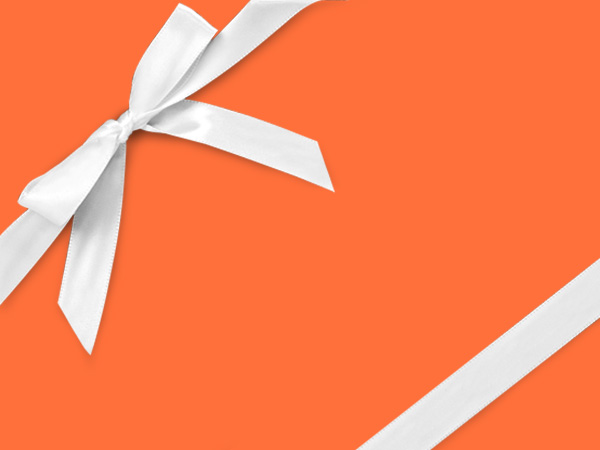 "Flourescent Orange Velvet 18""x833' Full Ream Roll Gift Wrap"