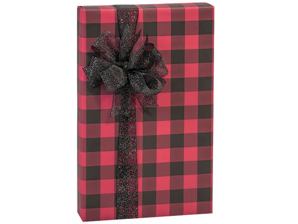 "Buffalo Plaid Stone Wrap 30""x417' Gift Wrap Counter Roll"