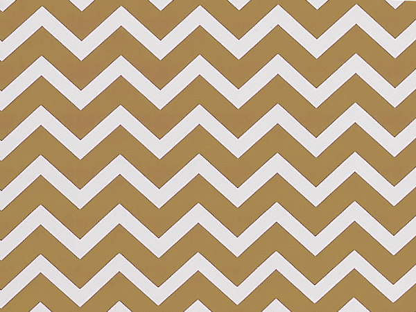"Gold Chevron Stripes, 30""x25' Wrapping Paper Roll"