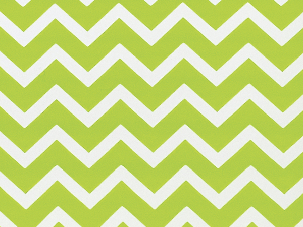"""Lime Green Chevron Stripes, 30""""x25' Wrapping Paper Roll"""