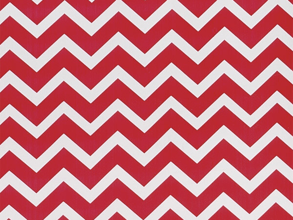 "*Red Chevron Stone Wrap 30""x417' Gift Wrap Counter Roll"