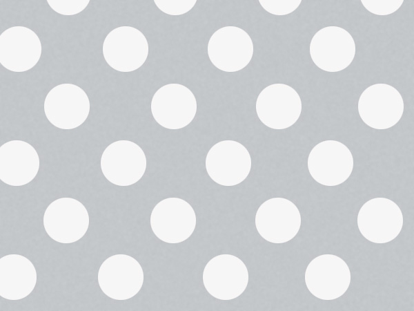 "Silver Polka Dots, 30""x25' Wrapping Paper Roll"