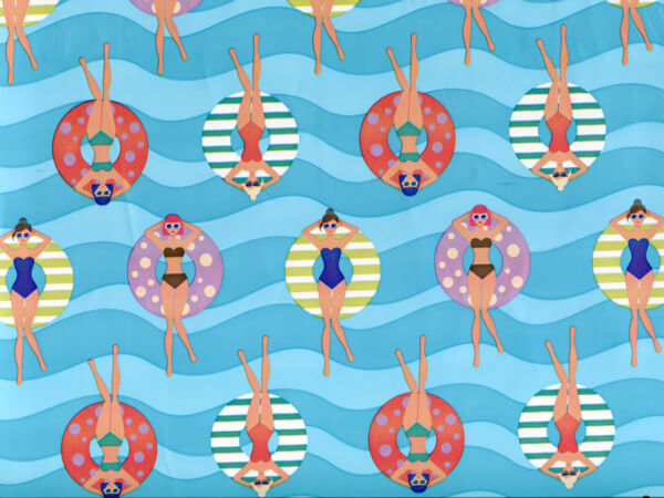 """Floating Around, 30""""x25' Wrapping Paper Roll"""