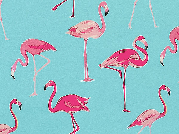 "Flamingo Paradise, 30""x25' Wrapping Paper Roll"