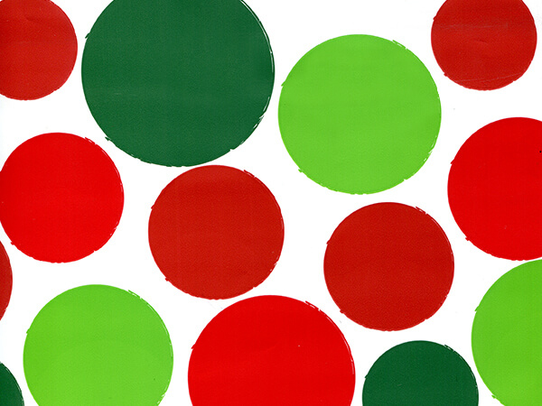 """Holiday Dots, Stone Wrapping Paper Roll, 30""""x25'"""