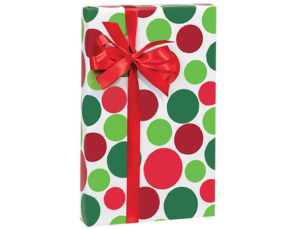"""Holiday Dots Stone Wrap 30""""x85' Gift Wrap Cutter Roll"""