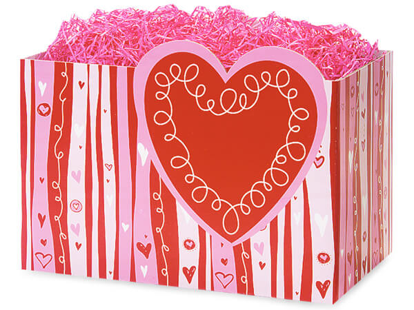 *Large Swirly Hearts Basket Boxes 10-1/4x6x7-1/2""