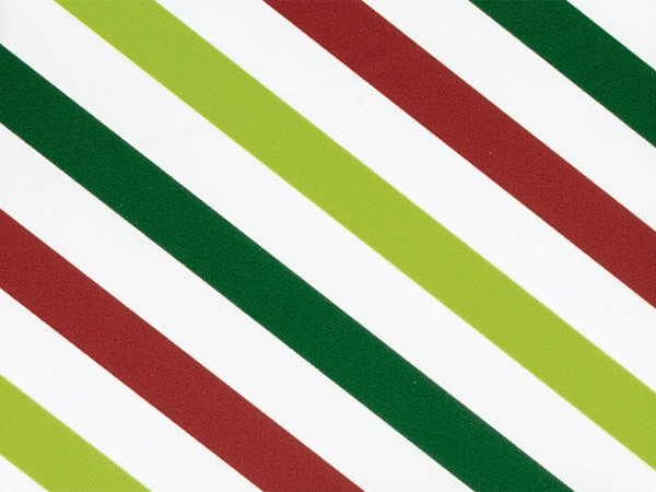 "Holiday Stripes Stone Wrap 30""x417' Gift Wrap Counter Roll"