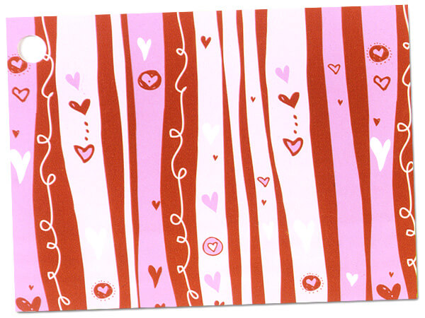 Swirly Hearts Theme Gift Cards 3-3/4x2-3/4""