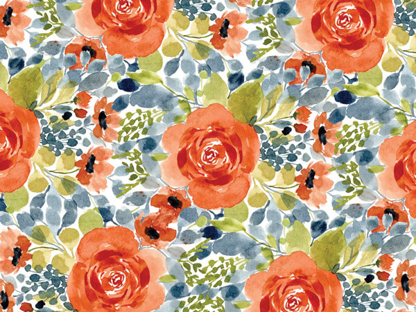 "Pretty Flowers, 30""x25' Wrapping Paper Roll"