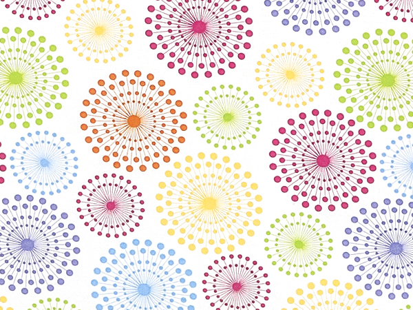 """Spinning Bright Dots, 30""""x25' Wrapping Paper Roll"""