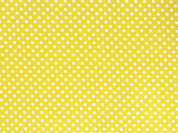 "Yellow Swiss Polka Dots, 30""x25' Wrapping Paper Roll"
