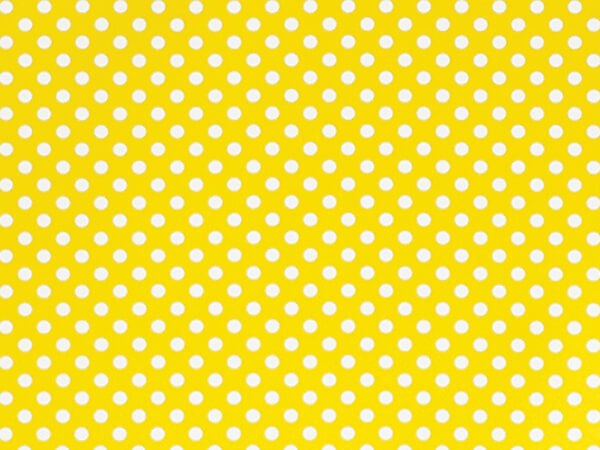 "Swiss Dots Yellow 30""x85' Stone Wrap Gift Wrap Cutter Roll"