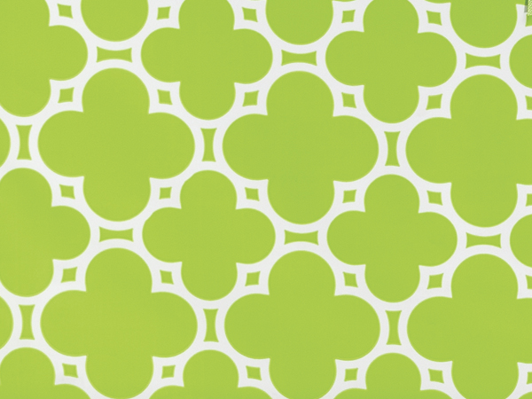 "Lime Green Tiles, 30""x25' Wrapping Paper Roll"