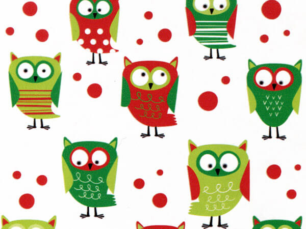 """Whoo-lidays Stone Wrap 30""""x417' Gift Wrap Counter Roll"""