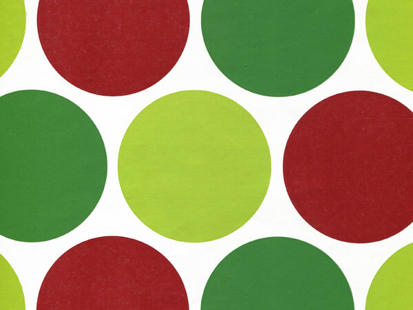 "Merry Dots 24""x417' Roll Gift Wrap"