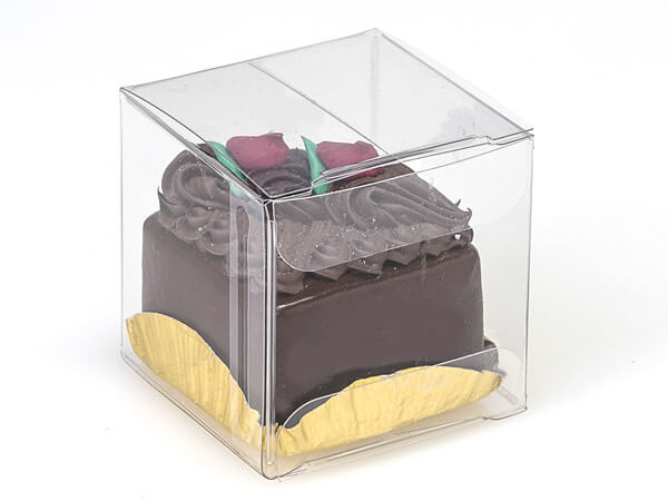 Clear 1 Piece Square Candy Boxes, 2x2x2""