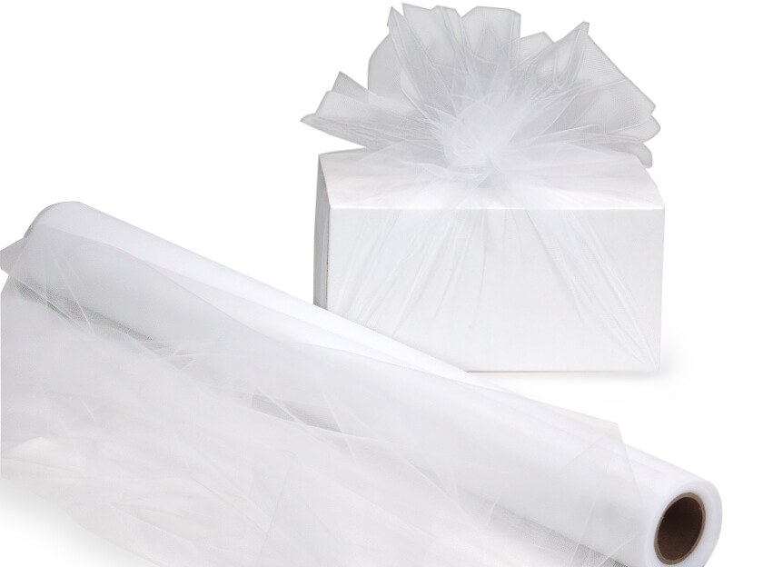 """*White Wide Roll Tulle Netting, 24""""x25 yards"""