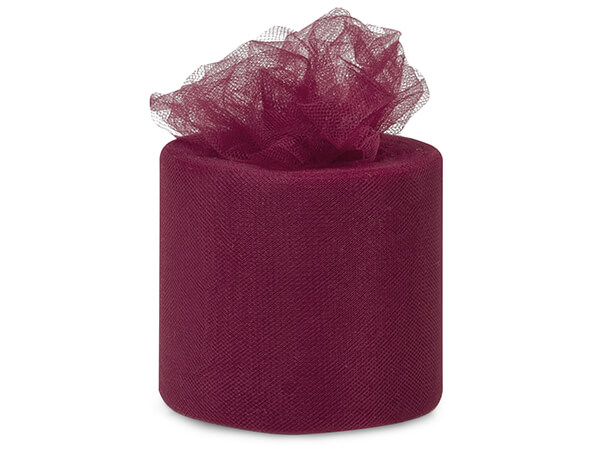 "Burgundy Red Premium Tulle Ribbon, 3""x50 yards"