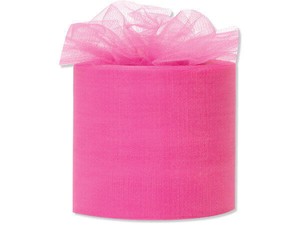 "Pink Beauty Premium Tulle Ribbon, 3""x50 yards"
