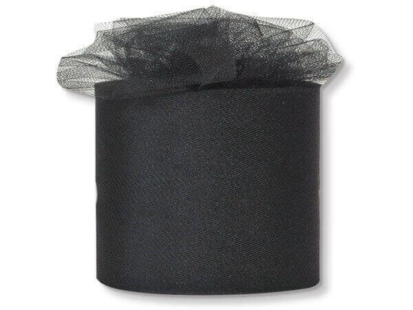 "Black Premium Tulle Ribbon, 3""x50 yards"