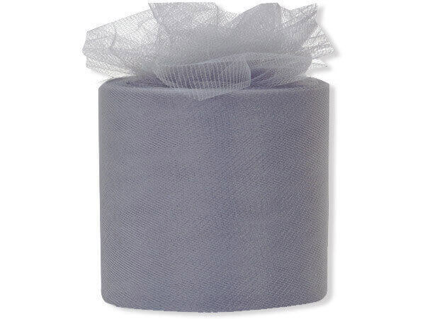 "Charcoal Gray Premium Tulle Ribbon, 3""x50 yards"