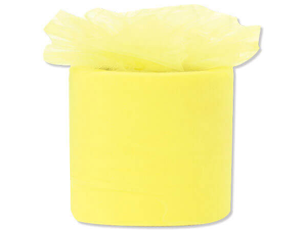 "Yellow Lemon Premium Tulle Ribbon, 3""x50 yards"