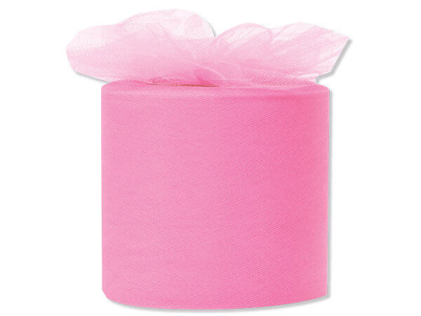 "Paris Pink Premium Tulle Ribbon, 3""x50 yards"