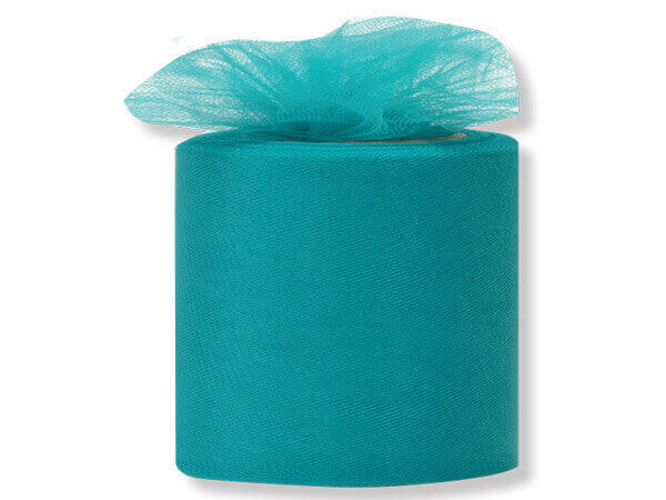 "Teal Tulle Ribbon 3""x50 yds 100% Nylon Netting"