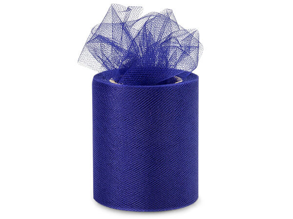 "*Navy Blue Tulle Ribbon, 3""x25 yards"