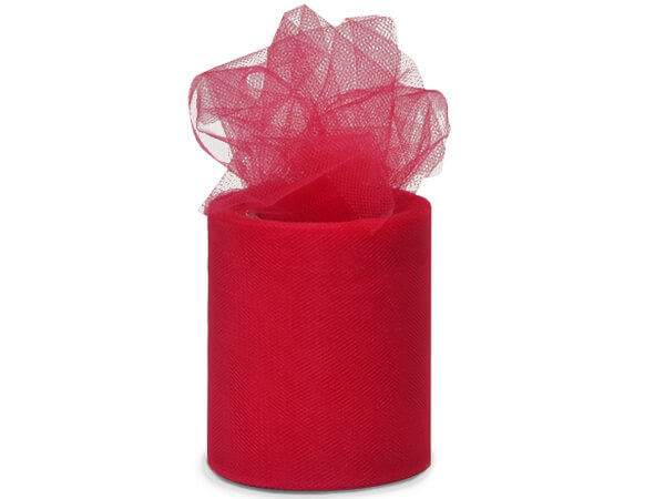 """*Red Tulle Ribbon, 3""""x25 yards"""