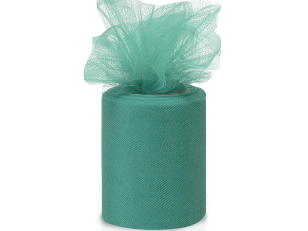 "Teal Tulle Ribbon, 3""x25 yards"