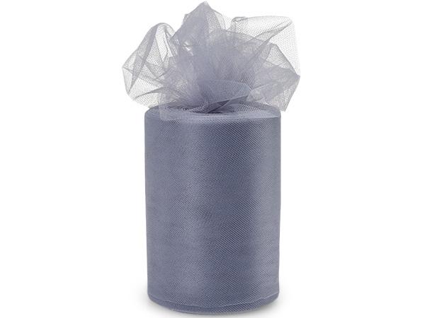 "Charcoal Gray Premium Tulle Ribbon, 6""x100 yards"
