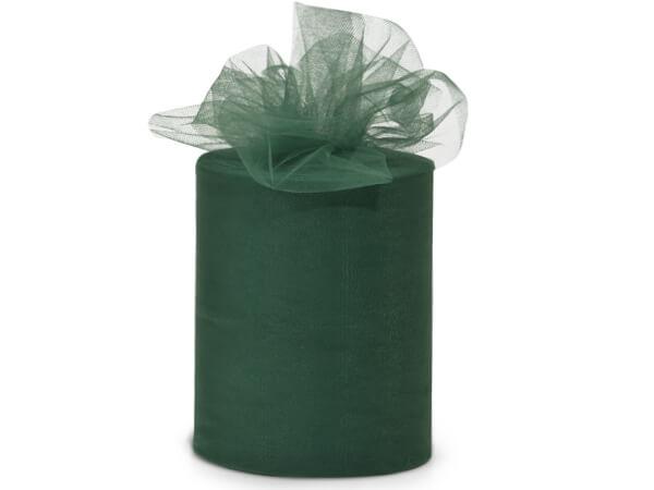 "Emerald Green Premium Tulle Ribbon, 6""x100 yards"